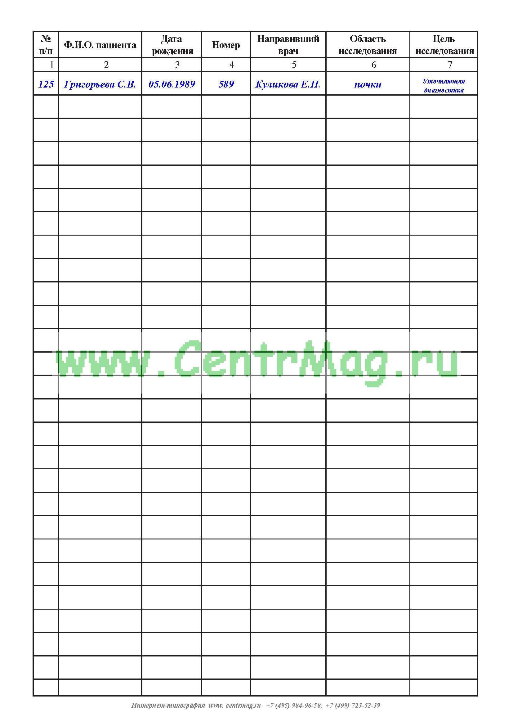 образец журнала регистрации листков нетрудоспособности форма 036 у