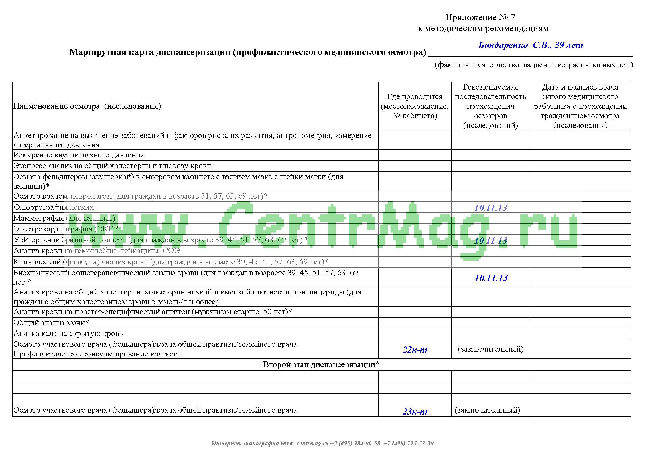 marshrutnaya-karta-dispanserizatsii-profilakticheskogo-meditsinskogo-osmotra