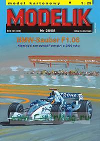 Модель-копия из бумаги гоночного автомобиля BMV-Sauber F1.06