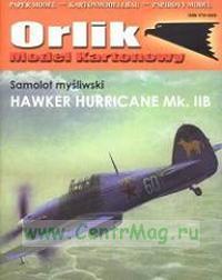 Модель-копия из бумаги самолета Hawker Hurricane Mk. IIB