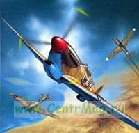 Модель-копия из бумаги самолета Spitfire Vb Trop
