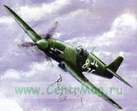 Модель-копия из бумаги самолета Heinkel He-100
