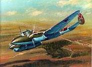 Модель-копия из бумаги самолета Пе-2 ФТ