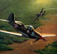 Модель-копия из бумаги самолета P-39N AIRACOBRA