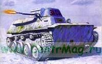 Модель-копия из бумаги танка T-40