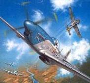 Модель-копия из бумаги самолета P-51D Mustang