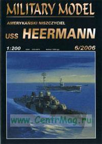 Модель-копия из бумаги эсминца USS Heermann