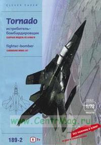 Истребитель-бомбардировщик Tornado (модель-копия 1/72). Конструктор из картона для детей