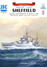 Модель-копия из бумаги корабля Sheffield