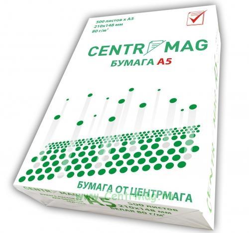 Бумага для печати. Формат - А5 (ЦЕНТРМАГ)