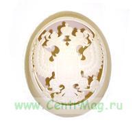 Герб РФ, вырезанный в страусином яйце (ручная работа)