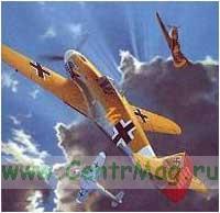 Модель-копия из бумаги самолета Messerschmitt Bf 109F-4