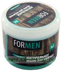 Натуральное мыло для мужчин Floresan 3 в 1 для ухода за волосами, телом и мягкого бритья, с водорослями