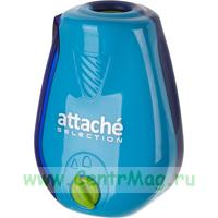 Точилка Attache Selection Twister с контейнером и регулятором заточки синяя