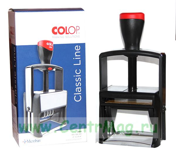 Оснастка для штампа COLOP Printer Compact, 2800, поле 68х49 мм, металлический корпус