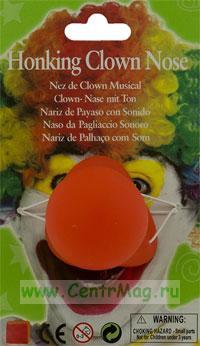 Клоунский нос резиновый