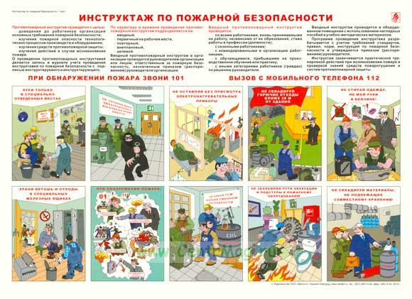 Плакат «Инструктаж по пожарной безопасности»