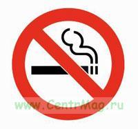 Знак о запрете курения. (Запрещается курить) Пластик, 220*220 мм К38