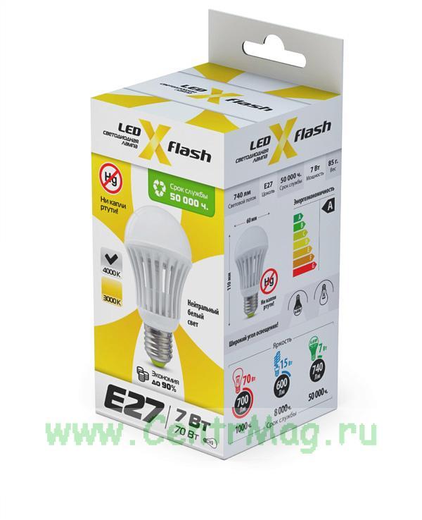Светодиодная лампа Bulb E27 7W 4K