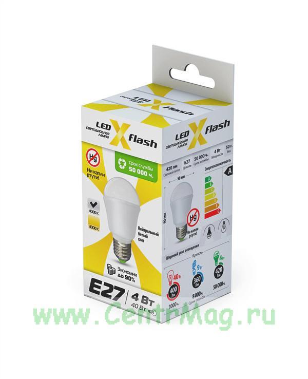 Светодиодная лампа MINI E27 4W 4K