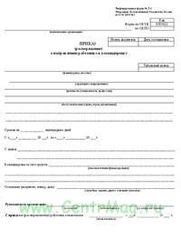 Приказ (распоряжение) о направлении работника в командировку, ФормаТ-9