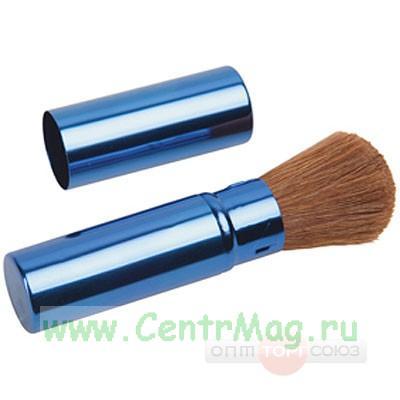 Кисть в футляре для румян (синий футляр)