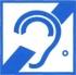Доступность для инвалидов по слуху. Знак
