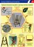 """Комплект плакатов """"Требования безопасности при работе с приставными лестницами и стремянками"""". (2 листа, ламинат)"""