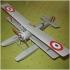 Модель-копия из бумаги самолета HD-1 Hanriot