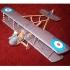 """Модель-копия из бумаги самолета """"AIRCO D.H.2"""""""