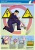 """Комплект плакатов """"Охрана труда при работе с аккумуляторами"""". (4 листа, ламинат)"""