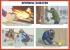 """Комплект плакатов """"Умей действовать при пожаре"""". (10 листов)"""