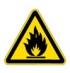 Пожароопасно! Легковоспламеняющиеся вещества. Знак