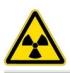 Опасно! Радиоактивные вещества или ионизирующее излучение. Знак