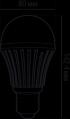 Светодиодная лампа Bulb E27 16W 4K