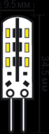 Светодиодная лампа Finger G4 1.5W 3K 12V