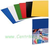 Обложка для изготовления брошюр непрозрачный пластик, черная, 100 шт/уп