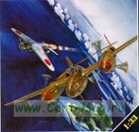 Модель-копия из бумаги самолета Lockheed P-38H Lightning
