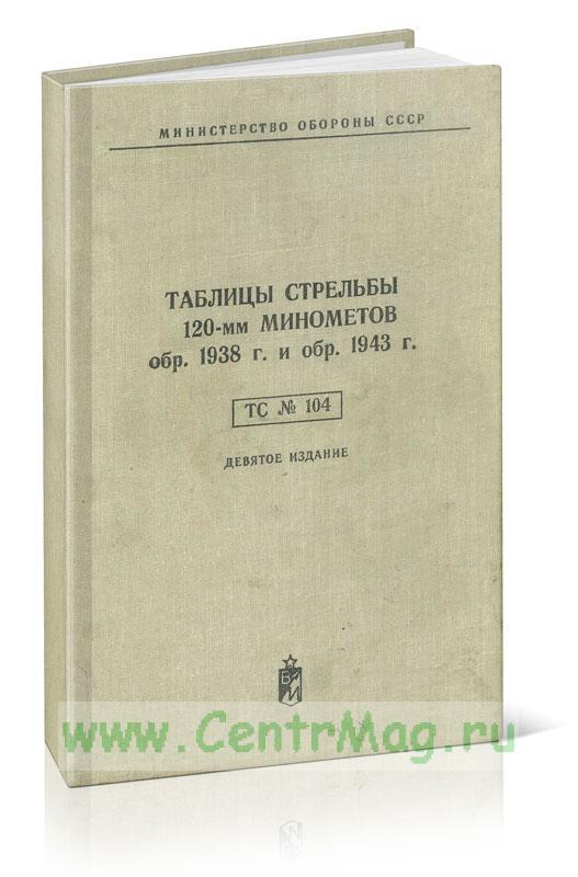 Таблицы стрельбы 120-мм минометов обр. 1938 г. и обр. 1943 г. (девятое издание)