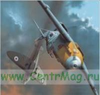 Модель-копия из бумаги самолета Messerschmitt Bf 109E-4