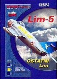 Модель-копия из бумаги самолета Lim-5