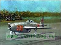 Модель-копия из бумаги самолета Як-17 Feather
