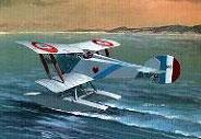 Модель-копия из бумаги самолета HD-2 Hanriot