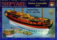 Модель-копия из бумаги корабля Santa Leocadia 1777г.