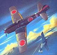 Модель-копия из бумаги самолета Ki-84