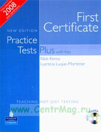 First Certificate Practice Tests Plus with Key + CD