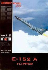 Модель-копия из бумаги самолета Е-152А Flipper