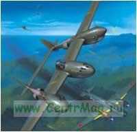 Модель-копия из бумаги самолета P 38-G LIGHTNING.