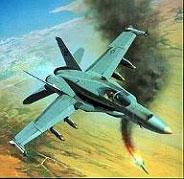 Модель-копия из бумаги самолета F/A-18C Hornet