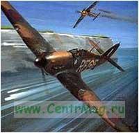 Модель-копия из бумаги самолета Hawker Hurricane.